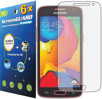 6 X Clear Film - 6x Clear LCD Screen Protector Guard Film Samsung Galaxy Avant SM-G386 SM-G386T