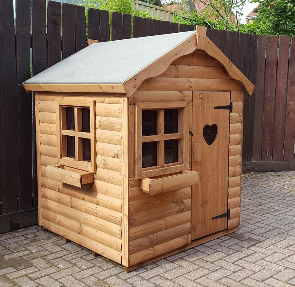 4x4 Brand New Wooden Kids Playhousewendyhouse Log Cabin In