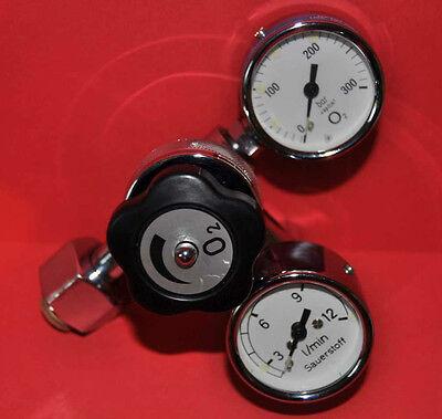 Druckminderer / Manometer / Druckregler / Tauerausrüstung / Sauerstoff O2