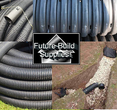 Perforated pipe coil for tree planting drainage 100mm X 100metre land drain