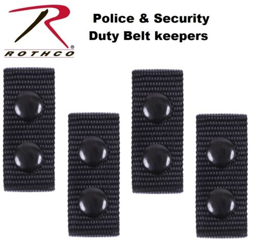 Belt Keepers Police & Security Tactical Duty Belt Keepers 4 Per Set 10584 Rothco
