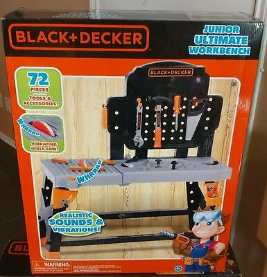 BLACK & DECKER 72-Piece Kid's Tool Kit Junior Ultimate Workbench $79 Retail