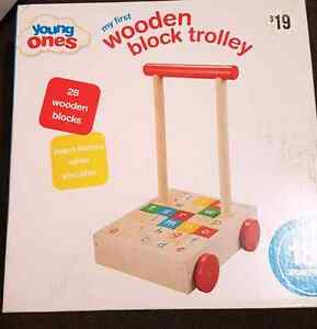 Wooden block trolley Redcliffe Belmont Area Preview