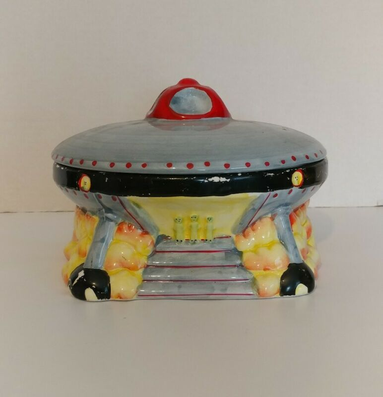 Ceramic UFO Cookie Jar Corning Collectibles MCID 1999 HTF!!! Vintage!!