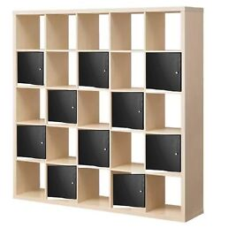 Clearance for almost new white shelf free black fabric for 5x5 frames ikea