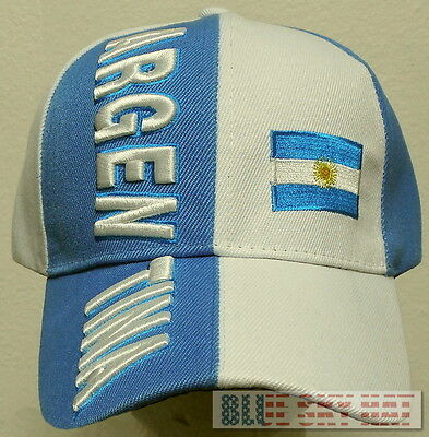 ARGENTINA REPUBLIC COUNTRY FLAG FIFA WORLD OLYMPIC GAME SOCCER CUP TEAM CAP HAT (Argentina Cap)