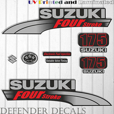 Suzuki 175 hp Four Stroke outboard engine decal sticker set kit reproduction for sale  Shipping to United Kingdom