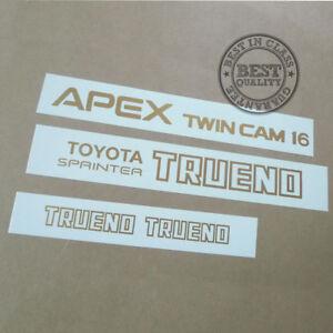 AE86 TOYOTA SPRINTER TRUENO APEX TWIN CAM 16, decal, sticker, vinyl, set