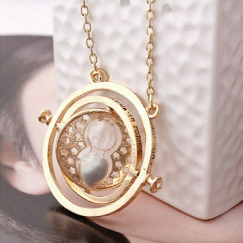 Time Turner Necklace Spins Hourglass