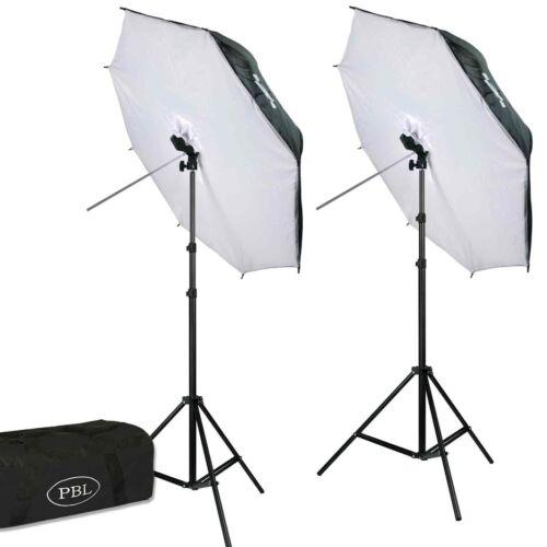 Photography LED 42in Umbrella Softbox Light Kit 700 Watts Studio Video