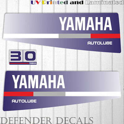 Yamaha 30 HP AUTOLUBE outboard engine decal sticker Set Kit reproduction Blue for sale  Shipping to South Africa