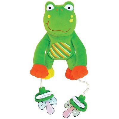 PULLY PALZ Baby Schnullerhalter PLÜSCHTIER Frosch SCHNULLERKETTE Original # NEU