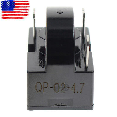 New QP2-4.7 Start Relay PTC For 4.7Ohm 3Pin Frgidaire Maytag Haier Igloo Vissani