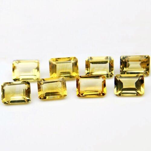 Wholesale Lot of 10x8mm Emerald Cut Natural Citrine Loose Calibrated Gemstone