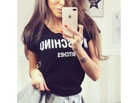 Womans t shirt I love moschino bitches one size