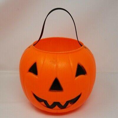 Empire Blow Mold Halloween Jack O Lantern Pumpkin Candy Trick Treat Bucket Pail