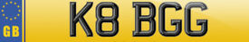 Private Cherished Car Number Plate K8 BGG Personalised Kate or Bee Gees Fan Club