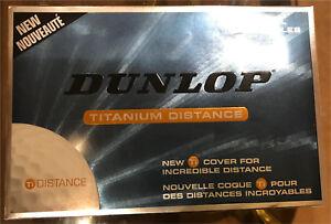DUNLOP TITANIUM DISTANCE GOLF BALLS BOX OF 15