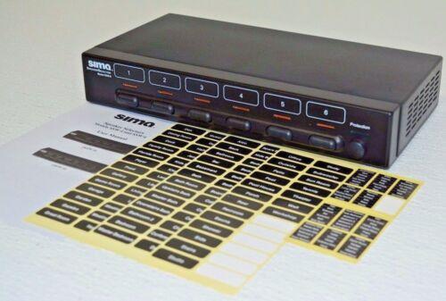 Sima 6-Pair Speaker Selector Black SSW-6
