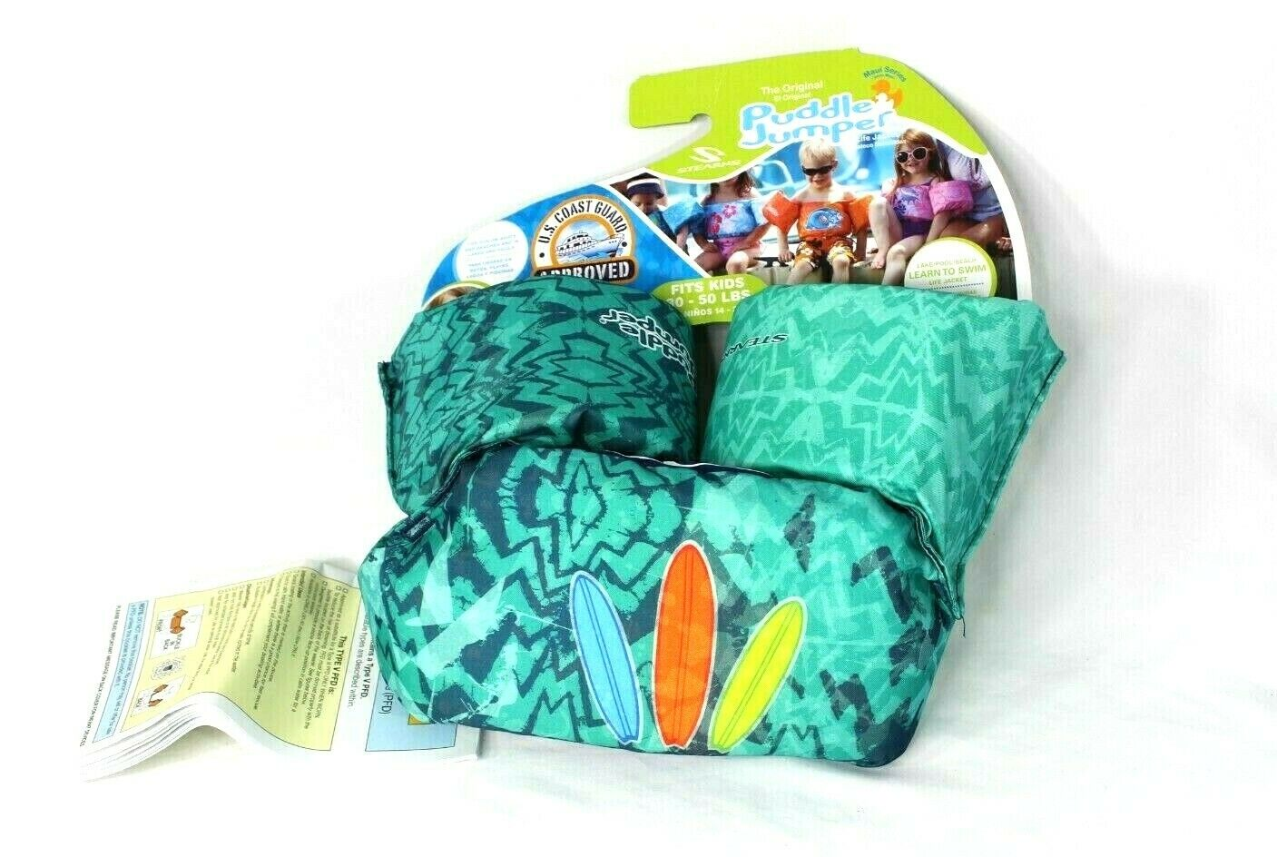 NEW Stearns Puddle Jumper Infant Life Jacket 30 -50 LBS GREE