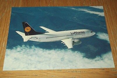 Lufthansa Boeing B737-300 D-ABXT branded postcard MINT CONDITION
