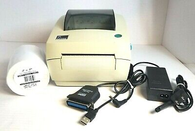 Zebra Label Thermal Printer DA402 With Power Supply/USB to parallel cable/labels for sale  Denton