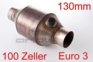 100 Zeller Metallkat Rennkat Sportkat D= 130mm klein Euro 3 Universal Metall Kat