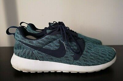 Nike Roshe One Knit Jacquard Blue Trainers - UK 8