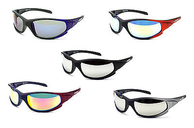 Sports Sunglasses Biking Fishing Golf Baseball Flash Mirrored Lens UV (Baseball Sunglasses Cheap)