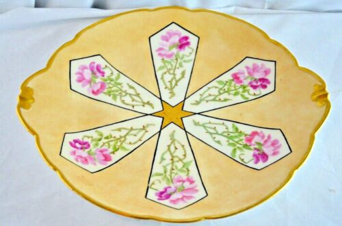 Antique Limoges France Floral Hand Painted Charger Plate  14.25""