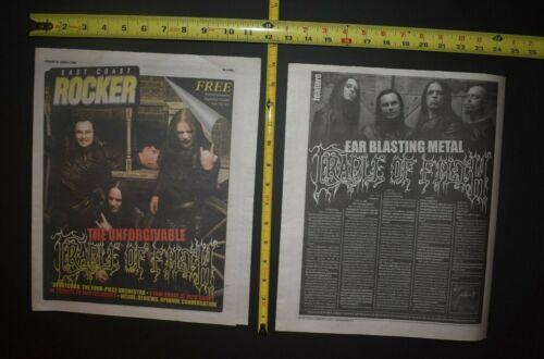 Cradle Of Filth 2009 2PC Color Cover/Interview Lot The Unforgivable