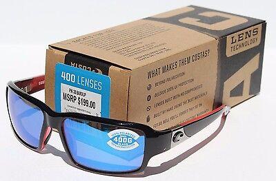 COSTA DEL MAR Peninsula POLARIZED Sunglasses Black Coral/Blue Mirror 400G NEW