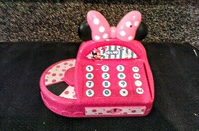 Minnie Mouse Pink Electronic Cash Register, Talks & Plays Music for sale  Gulf Shores