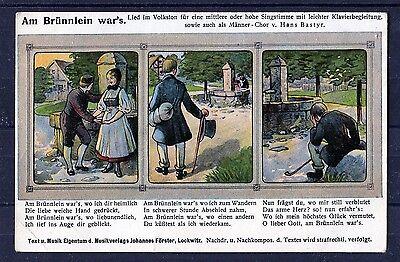Tolle Ansichtskarte mit dem Lied Am Brünnlein war´s - 00246