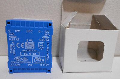 Block Fl 612 6 Va Low Profile Pcb Transformer Fl612