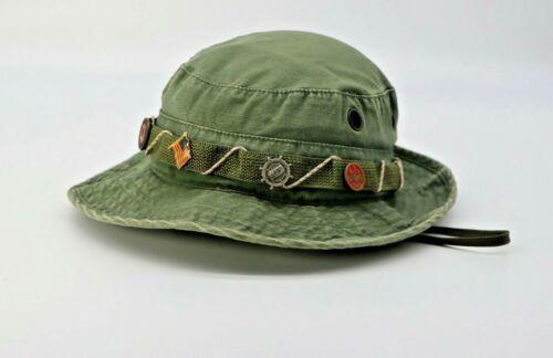 VTG Sun Hot Weather Hat Propper Sz 7 1/4 MIL-H-44105 Hat Army Green Boy Scout