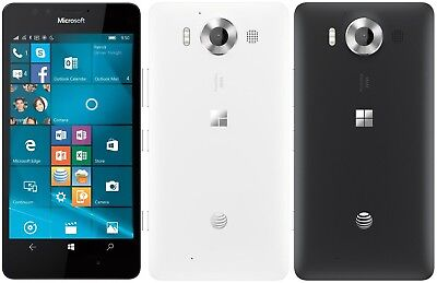Microsoft Nokia Lumia 950 32Gb At T Unlocked Smartphone Rm 1105 Window 10  20Mp