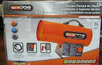 Dyna-glo Pro Portable Forced Air Heater In The Box Propane 30000 - 60000 Btu