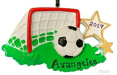 Personalized Soccer Balls (PERSONALIZED CHRISTMAS ORNAMENT Sport SOCCER Ball Football Goal Kicker)