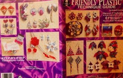 Friendly Plastic Technique Guide Jewelry pattern Pins Earrings