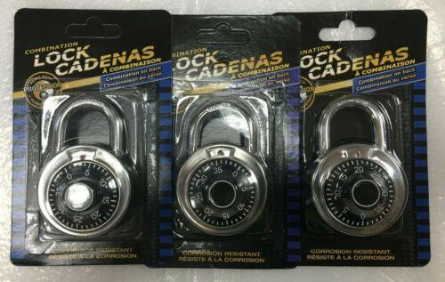 Lot of 3X Master Lock 1530DCM Locker Lock Combination Padlock- BLACK