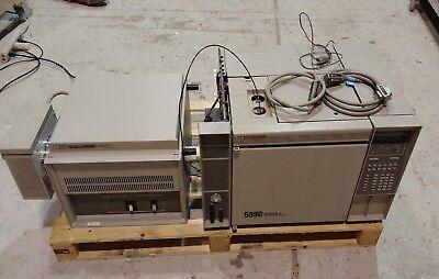 Hp 5890 Series Ii Gas Chromatograph 5970 Msd Mass Selective Detector