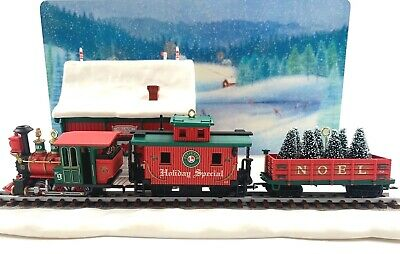 Hallmark 2003 Lionel Holiday Special Set of 3 Ornaments with Display Scene
