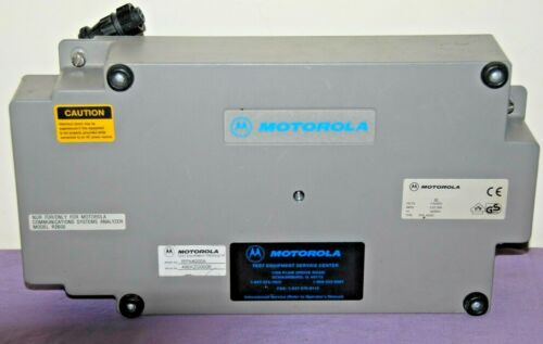 Motorola R2600 Series Communications System Foundations Part - Please Read