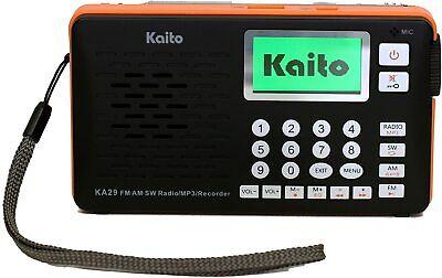 Kaito KA29 AM FM Shortwave Portable DSP Radio Receiver with