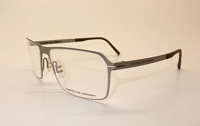 Porsche Design P 8255 B Men Eyewear Optical Frame DEMO Lenses Matte Silver Z6/16