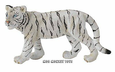 WHITE TIGER CUB WALKING CollectA # 88429 Collectible Big Cat Animal Replica NWT