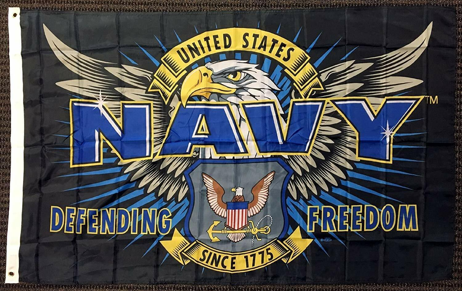 3x5 united states us navy defending freedom