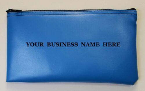 Personalized Business Bank Deposit Bag Printed Custom Vinyl Money Bag Zipper $