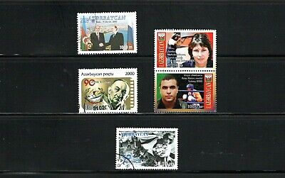 Azerbaijan -- 5 diff used commemoratives from 2001 -- cv $9.60